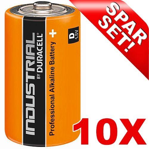 Mono (D)-Batterien, 10er-Pack Duracell Industrial