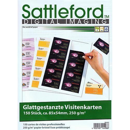 150 Business-Visitenkarten mit glatten Kanten, 250g