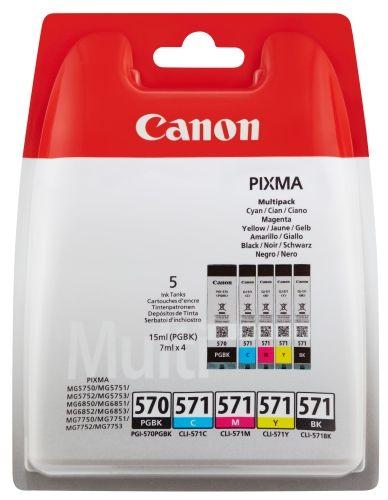 Original Canon MultiPack Nr. 570/571, PGI-570+CLI-571