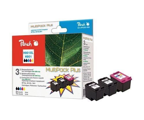 Peach MultiPack Plus PI300-568, remanufactured HP 901 / HP 901XL