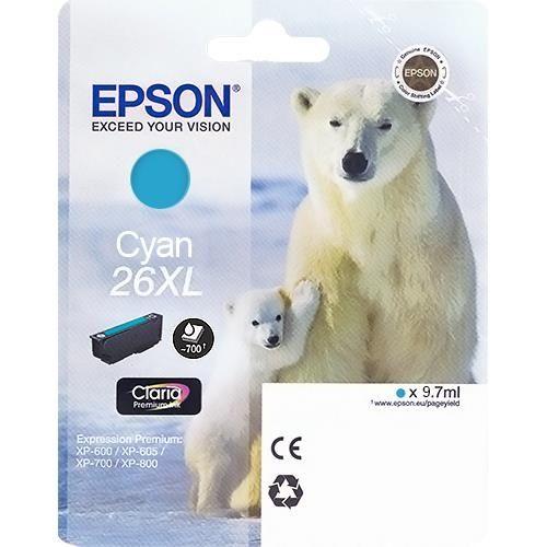 Originalpatrone Epson T263240, cyan | EO-TP2632