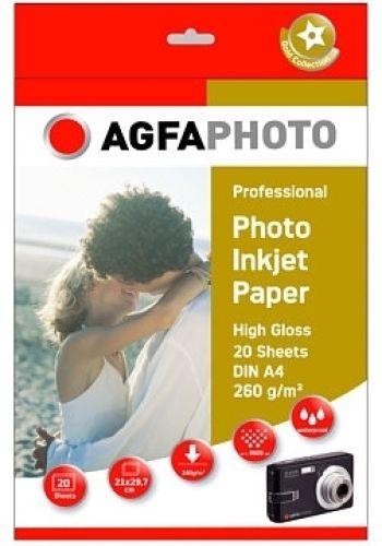 Foto-Papier AgfaPhoto Professional, 260g/qm, Din A4, 20 Blatt