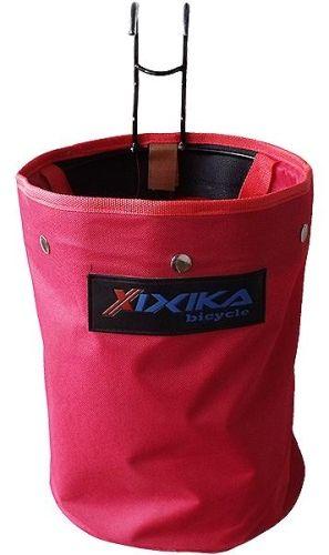 Fahrradlenker-Tasche aus Nylon, rot