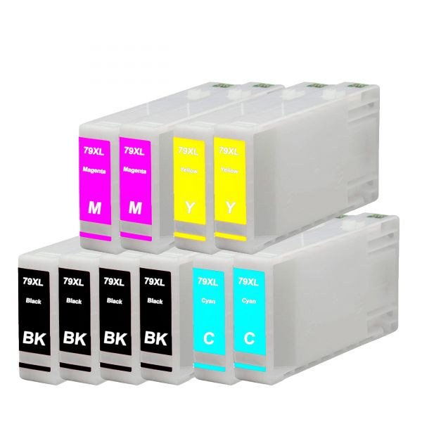 10 Patronen kompatibel zu T7901XL, T7902XL, T7903XL, T7904XL