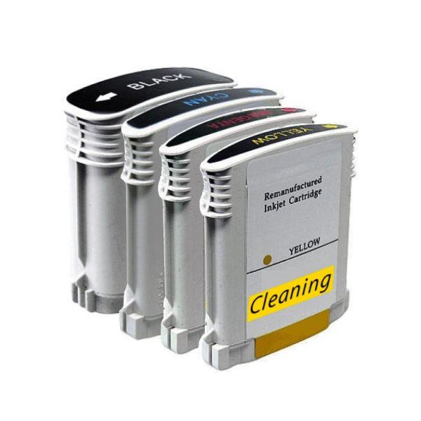 * Reinigungspatronen-Set: 4 Patronen kompatibel zu HP Nr. 940