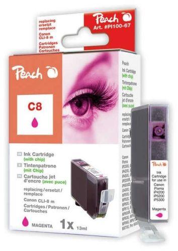 Peach Tintenpatrone magenta mit Chip, kompatibel zu CLI-8m