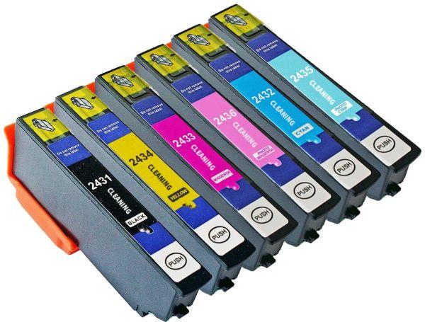 Cleaning-Set: 4 Reinigungspatronen kompatibel zu T2431-T2436