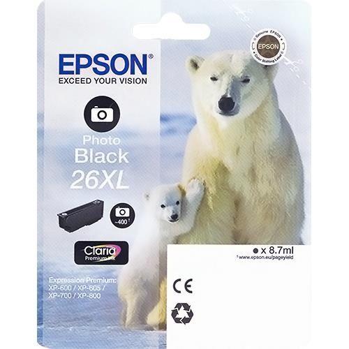 Originalpatrone Epson T263140, photo-schwarz | EO-TP2631