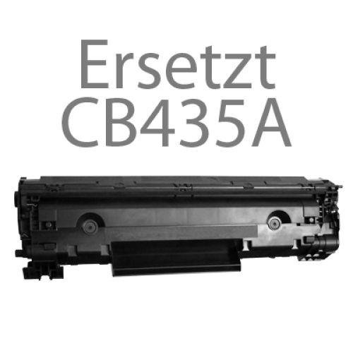 Toner Schwarz Alternativ für HP-Drucker, ersetzt HP CB435A