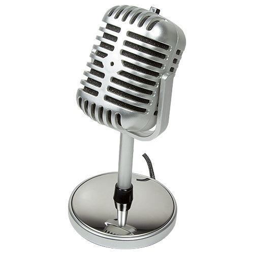 Tischmikrofon LogiLink Retro Style HS0036
