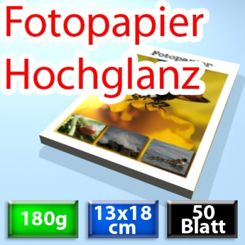 180g Foto-Karten 13*18cm, Glossy, 50 Blatt