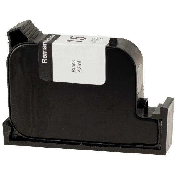Druckerpatrone schwarz, ersetzt HP Nr. 15/CC6615D, H15rw