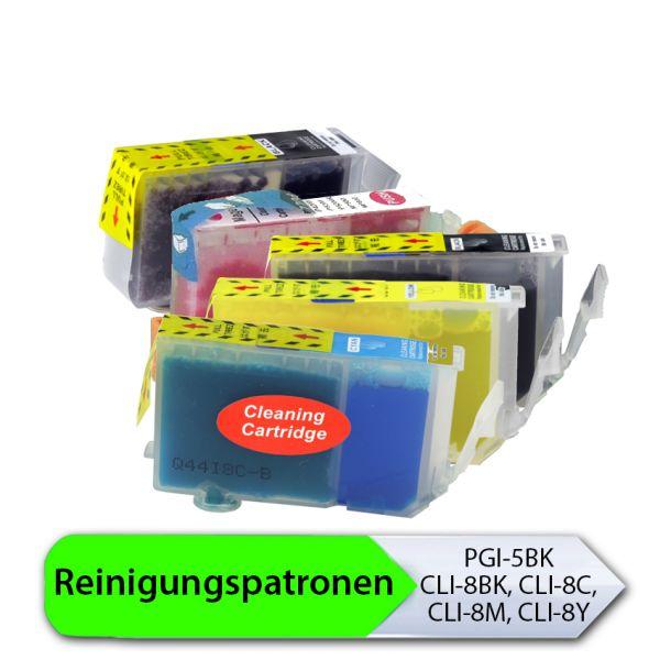 * Reinigungspatronen-Set: 5 Patronen kompatibel zu PGI-5, CLI-8