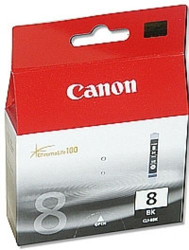 Original Canon Schwarze Tintenpatrone Nr. 8, CLI-8BK