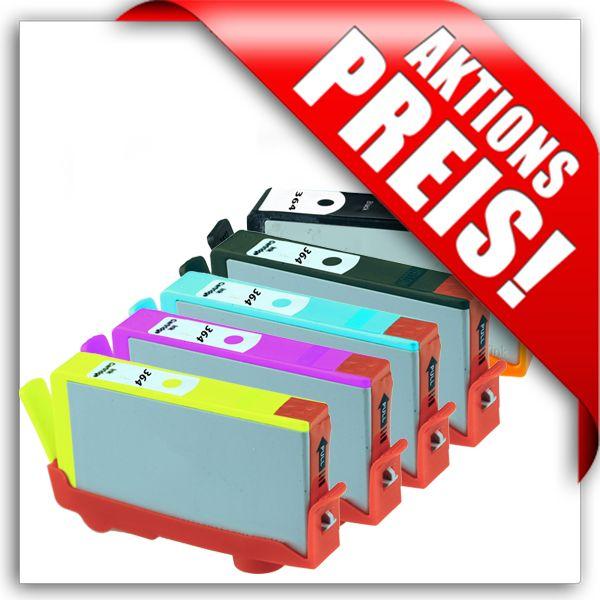 * Aktion: 5 Patronen für HP, ersetzen Nr. 364