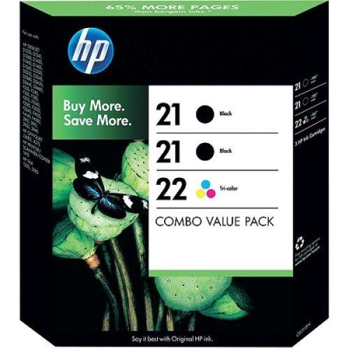 HP SD400AE Originalpatronen Nr. 21 / 22, schwarz / color, 5ml